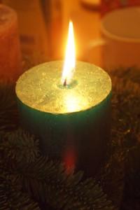 Kerzenschein zur Weihnachtszeit