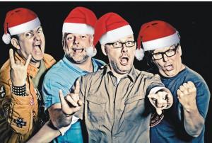 Weihnachtliche Hardrockhasen aus Bielefeld
