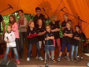 Die Beat for Kids beim Soundcheck auf der Kieler Kinderliederwoche