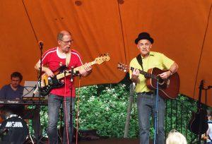 Uli Ebeling, Matthias Meyer-Göllner und Robert Metcalf bei der Kieler Kinderliederwoche 2016
