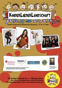 Das Programm der KinderLiederLandschaft Niederrhein/Duisburg 2016