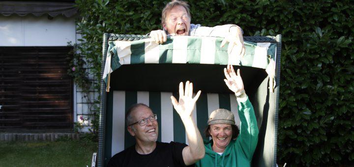Die Kinderliedermacher Matthias Meyer-Göllner, Gerd Grashaußer und Astrid Hauke (v.l.n.r)