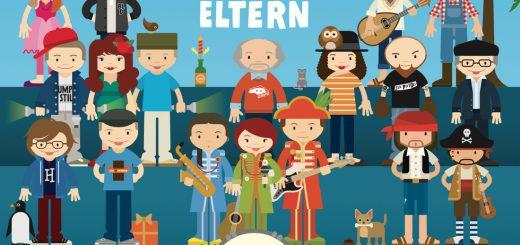 """""""Nicht von schlechten Eltern"""": Das neue Album von 3Berlin und Freunde (Illustrationen von Friederike Hofmann)"""