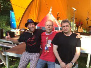 Cattu, Matthias und Uli gaben auf der ABK-Bühne ein super Team ab