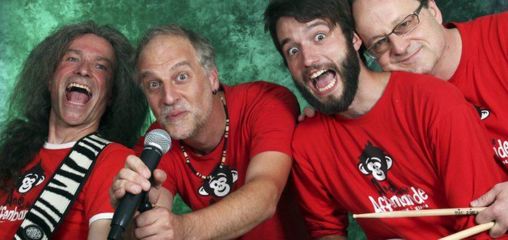 """Andreas Taub macht seit 2009 Kinderrockmusik mit seiner Band """"Andi und die Affenbande""""."""